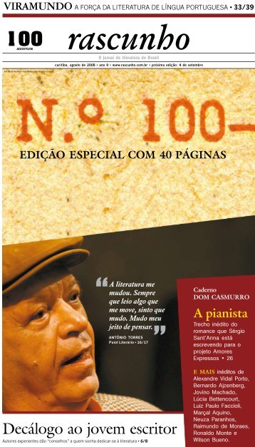 Decálogo ao jovem escritor - Jornal Rascunho - Gazeta do Povo