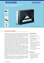 Scanner laser omnidirectionnel Hautes ... - Datalogic Automation