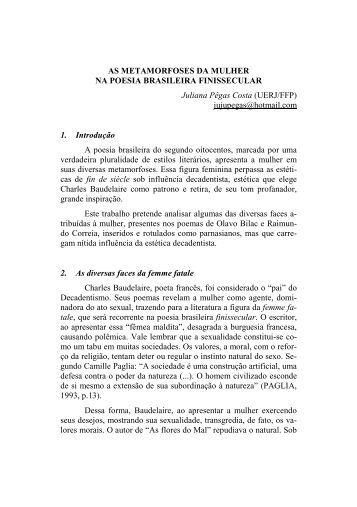 AS METAMORFOSES DA MULHER NA POESIA BRASILEIRA ...