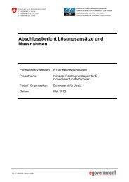 Abschlussbericht Lösungsansätze und Massnahmen