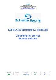 TABELA ELECTRONICA SCHELDE ... - Sport Arena SRL