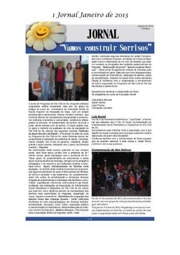 Jornal Social (Jan. 2013) - Freguesia de Vila Chã de Sá