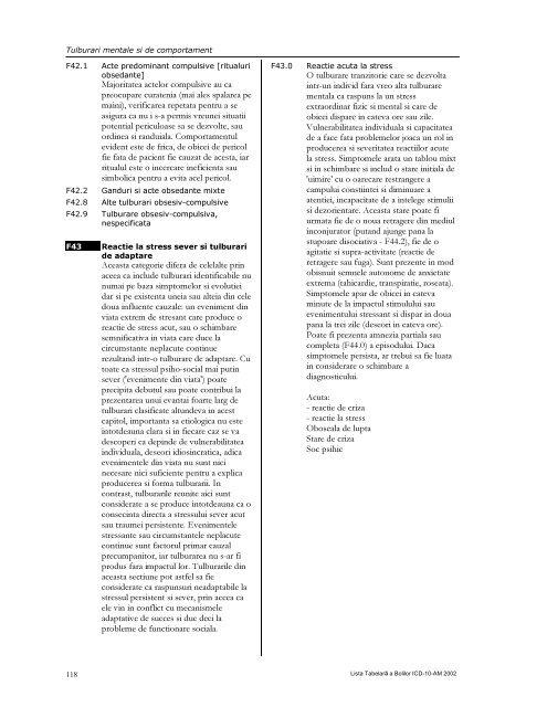 LISTA TABELARĂ A BOLILOR ICD-10-AM - DRG