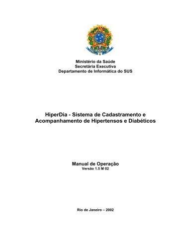 HiperDia - Sistema de Cadastramento e Acompanhamento de ...
