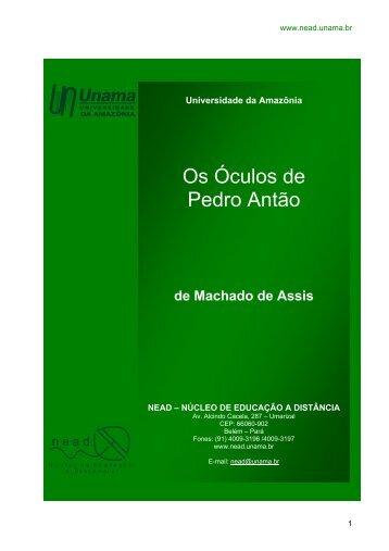 Os Óculos de Pedro Antão - Unama