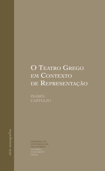 O TeaTrO GreGO em COnTexTO de represenTaçãO - Universidade ...