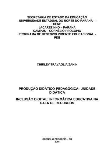 produção didático-pedagógica - Secretaria de Estado da Educação ...
