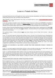 Lucas e o Tratado de Deus. - Segundo As Escrituras