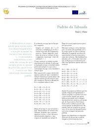 Padrão da Tabuada - Escola Superior de Educação de Viseu