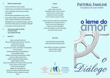 Folheto 1 - Pastoral Familiar Porto