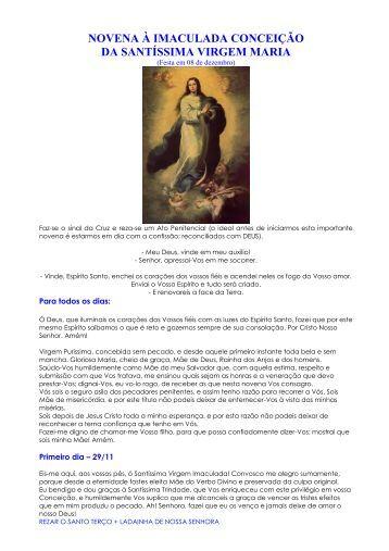 NOVENA DA IMACULADA CONCEIÇÃO - Maria Mãe da Igreja