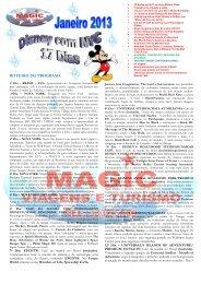 DISNEY 12 Dias - Janeiro 2002 - Magicenglish.com.br