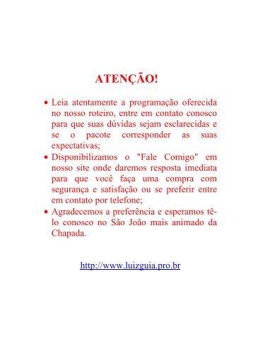 imprimir - Luiz Guia de Turismo
