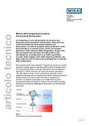 Misura di temperatura invasiva nei processi farmaceutici - Wika