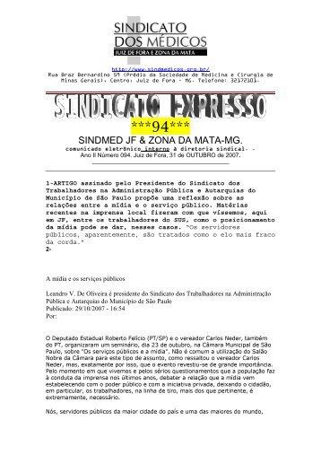 Expresso Sindical nº 94 - Sindicato dos Médicos de Juiz de Fora e ...
