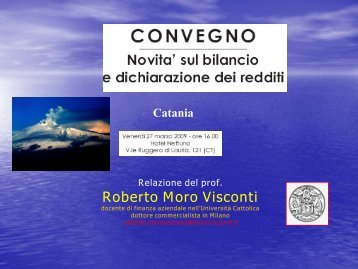 Intervento del Prof. Moro Visconti