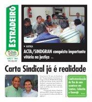 Jornal Estradeiro - Edição 38 - ACTA SINDGRAN