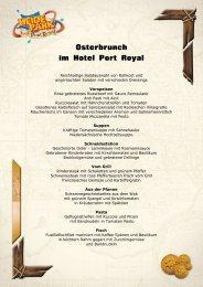 Osterbrunch im Hotel Port Royal