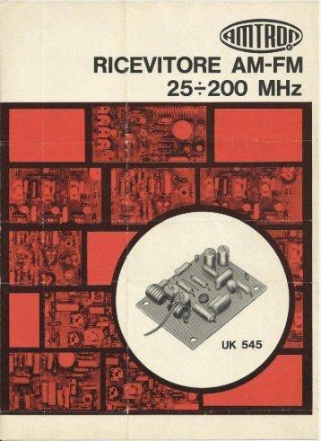 Ricevitore AM-FM 25-200 MHz - Italy