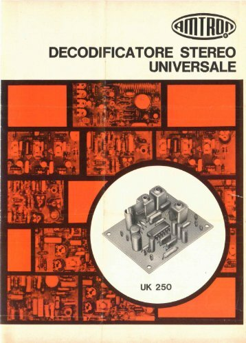 Amtron UK250 - Decodificatore stereo universale.pdf - Italy