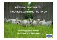 produção responsavel x incentivos ambientais – bertin s/a - Famato