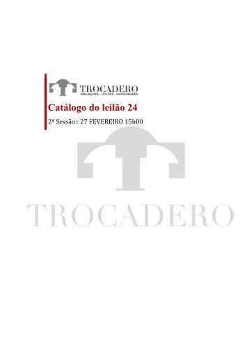 Catálogo do leilão 24 - TROCADERO