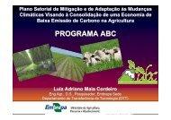 PROGRAMA ABC - Ministério da Agricultura