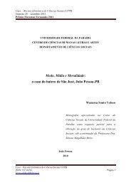 o caso do bairro de São José, João Pessoa - CCHLA - Universidade ...