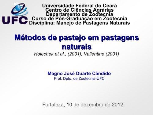 Métodos de pastejo em pastagens naturais - Núcleo de Ensino e ...
