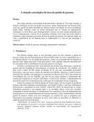A atuação estratégica da área de gestão de pessoas - aedb