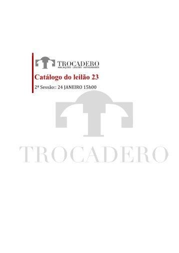 Catálogo do leilão 23 - TROCADERO
