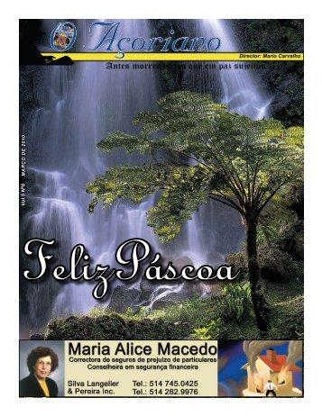 V ol.5 Nº6 Director: Mario Carvalho - O Açoriano