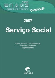 ENADE Comentado 2007: Serviço Social - pucrs