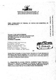 irregularidade no processo licitatório, modalidade ... - TCM-CE