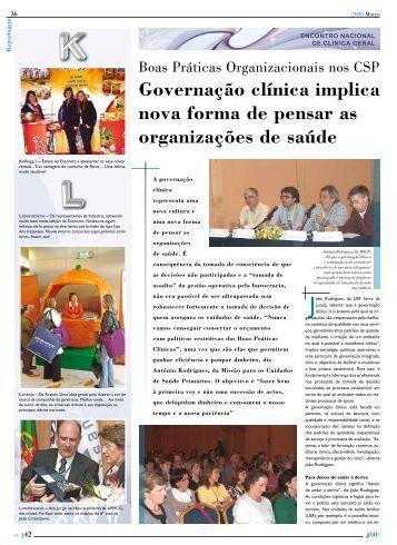 Governação clínica implica nova forma de pensar as organizações ...