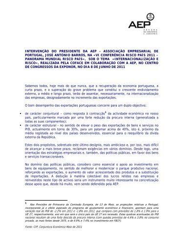 Panorama Mundial Risco País», sob o tema - AEP
