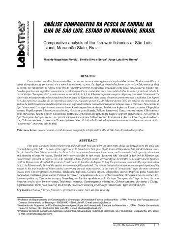 análise comparativa da pesca de curral na ilha de são luís, estado ...