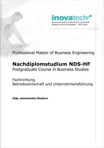 Nachdiplomstudium NDS-HF - Inovatech