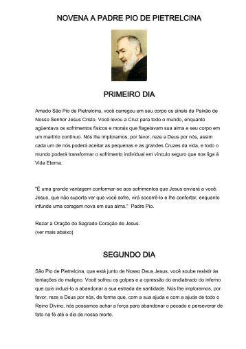 NOVENA A PADRE PIO DE PIETRELCINA - Maria Mãe da Igreja