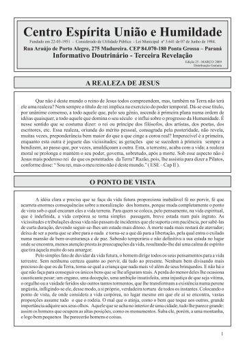 Edição 25 - Março/2009 - CEUH - Centro Espirita Uniao e Humildade