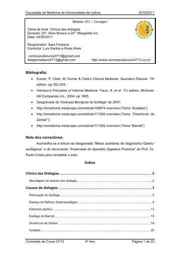 Clinica das Disfagias - CC0713 | Página Inicial