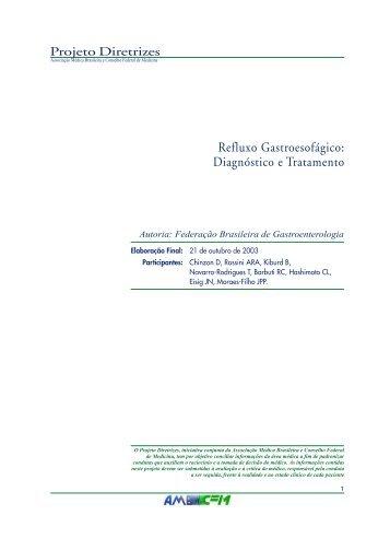 Refluxo Gastroesofágico: Diagnóstico e ... - Projeto Diretrizes