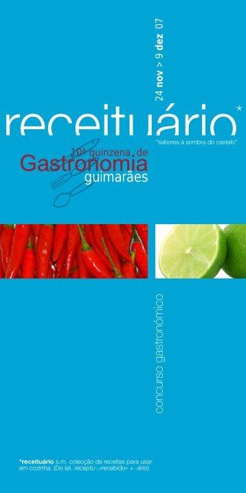 Receituário 2007 - Guimarães Turismo