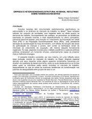 Emprego e heterogeneida\de estrutural no Brasil: refletindo ... - Cepal