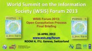 World Summit on the Information Society (WSIS) Forum 2013