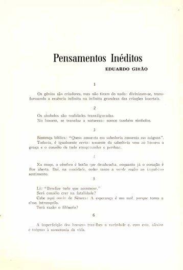 Pensamentos Inéditos - Eduardo Girão