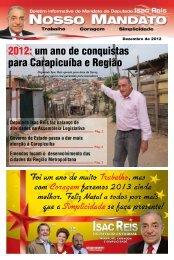 2012: um ano de conquistas para Carapicuíba e Região - Isac Reis