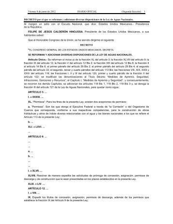 Ley de Aguas Nacionales - Conagua