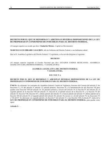Se reforman disposiciones a la Ley de Propiedad en ... - IDCOnline