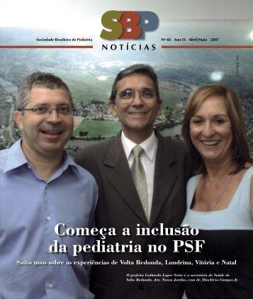 Começa a inclusão da pediatria no PSF - Sociedade Brasileira de ...